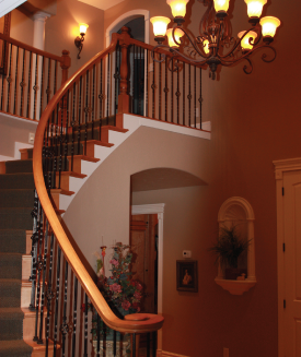 Staircase by DM Builders, Idaho Home Builders