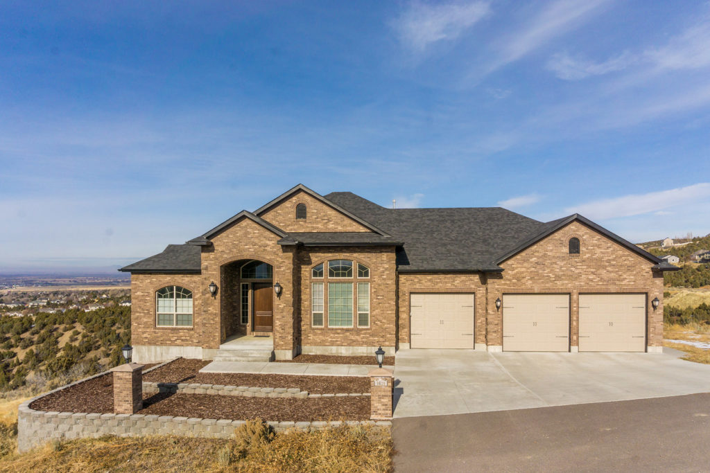 Exterior of home built by DM Builders, Idaho home construction