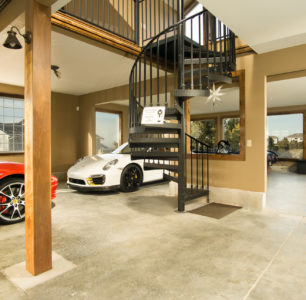 Car Display room built by DM Builders, Idaho home construction