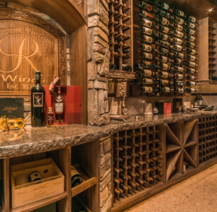 wine cellar built by DM Builders, Idaho home construction