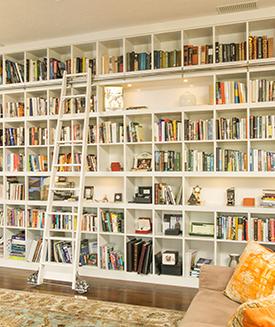 Custom Built-in Bookshelf, DM Builders, Idaho home builder