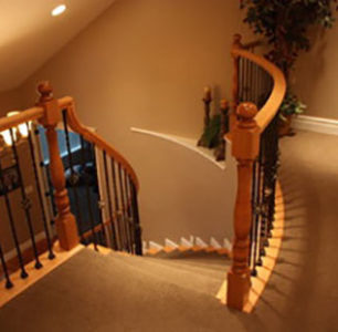 staircase built by DM Builders, Idaho home construction