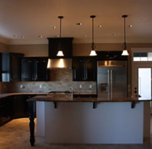 custom kitchen built by DM Builders, Idaho home construction