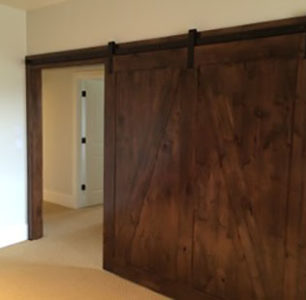 wood barn doors built by DM Builders, Idaho home construction