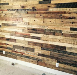 Wood wall built by DM Builders, Idaho home construction