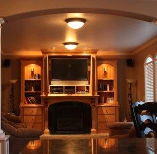 Home entertainment built by DM Builders, Idaho home construction