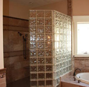 tiled shower at DM Builders, Idaho home builder