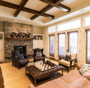 custom living room In Idaho by DM BUILDERS